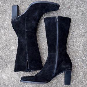 Banana Republic Black Suede Boots